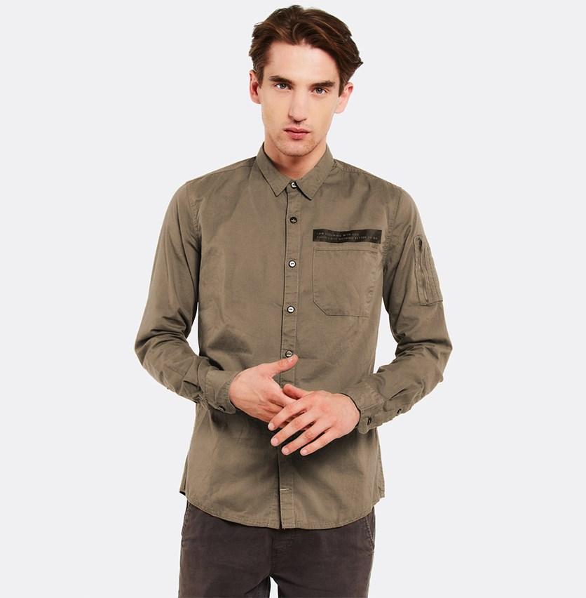 Men's Button Down Shirt, Khaki
