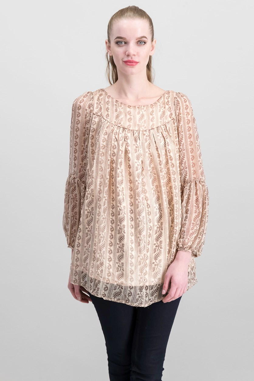 Women's Printed Top, Blush