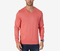 Nautica Men's Classic-Fit V-Neck Long Sleeve Sweater, Wash Red