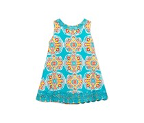 Rare Editions Printed Shift Dress, Turquoise