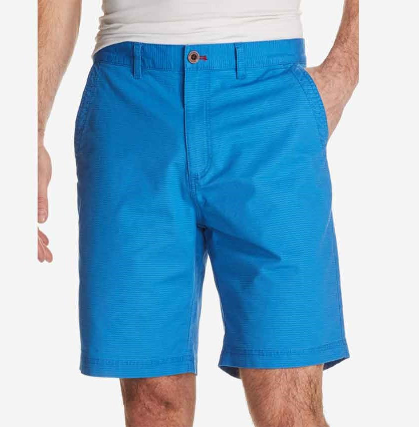 Vintage Men's Stretch Textured-Stripe Shorts, Bright Blue