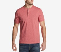 Weatherproof  Men's Textured Jersey-Knit Henley, Rio Red