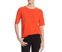 Eileen Fisher Organic Cotton T-Shirt, Heather Red