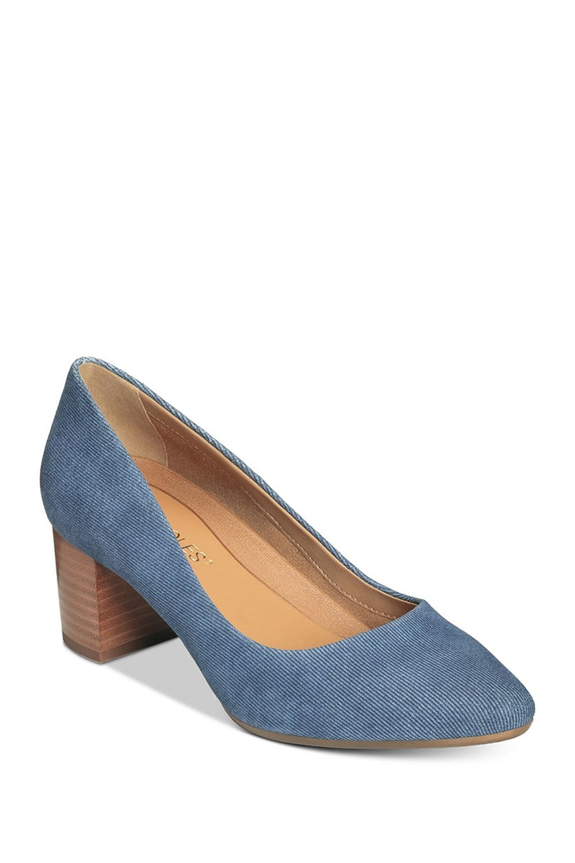 Women's Silver Star Pumps, Denim Combo