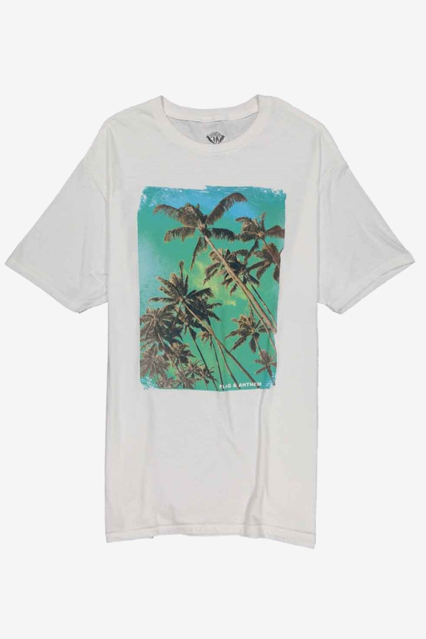 Palm Distress Tee, White