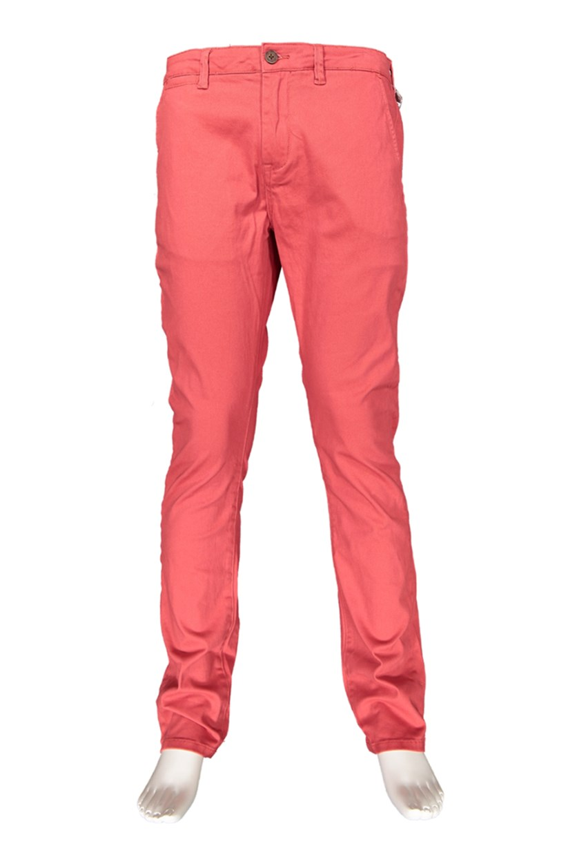 Mens Castleton Chino Pants, Red