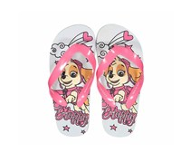 Girls Nickelodeon  Paw Patrol Slip-on Flip-flops, White/Pink