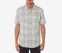 O'Neill Mens Rhodes Plaid Shirt, Gray