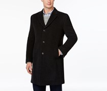 Men's Barnes Double-Button Coat, Charcoal