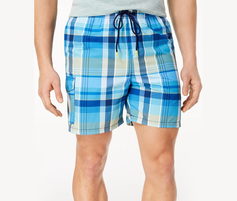 Mens Naples Riviera Classic-Fit Swim Trunks, Kingdom Blue