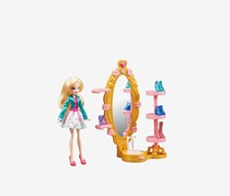 Regal Academy Rose's Magic Shoe Closet Doll Playset, Pink/Green