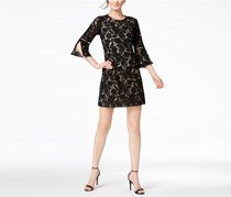 Vince Camuto 3/4-Sleeve Lace Dress, Deep Black