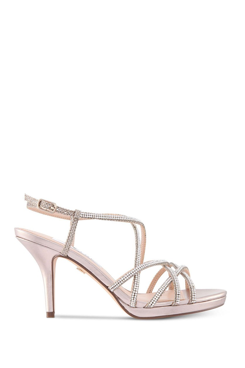Vilma Evening Sandals, Silver