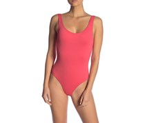 Onia Kelly Solid One-Piece Swimsuit, Coral