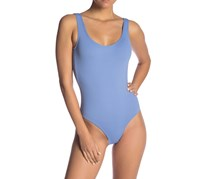 Onia Kelly Solid One-Piece Swimsuit, Iris