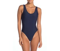 Kelly Solid One-Piece Swimsuit, Oxford Navy