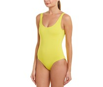 Onia Kelly Solid One-Piece Swimsuit, Yellow