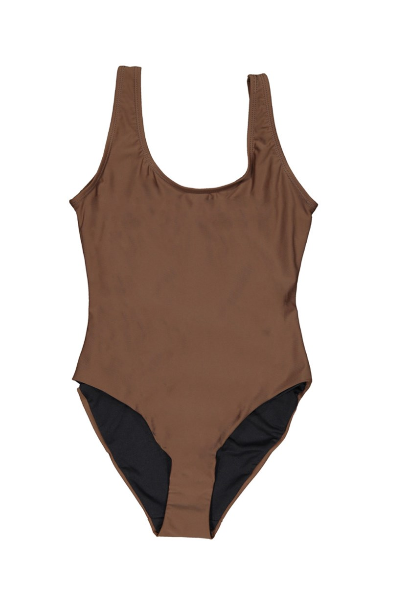 Kelly One-Piece Swimsuit, Coffee Liqueur