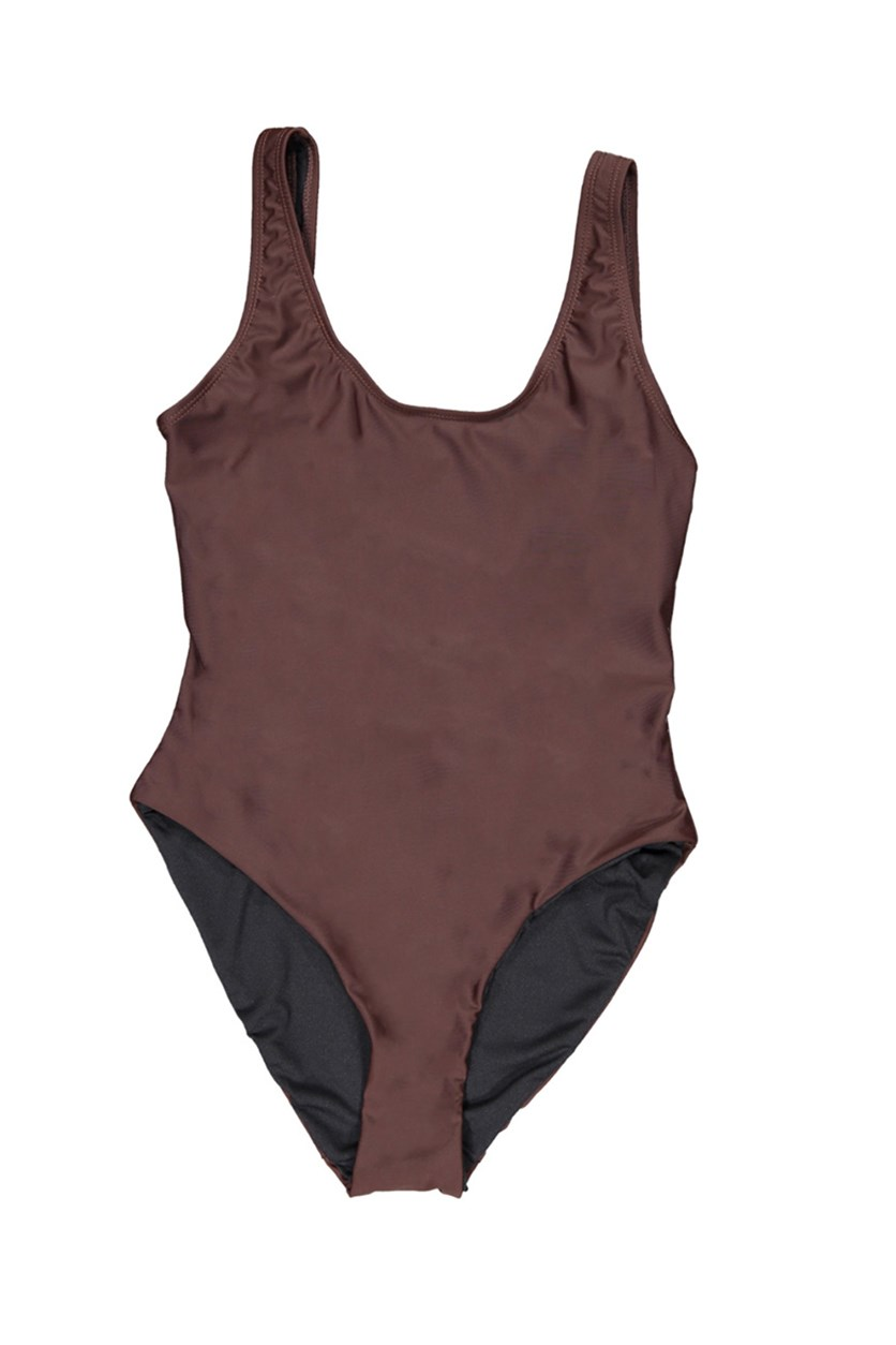 Kelly Solid One-Piece Swimsuit, Java