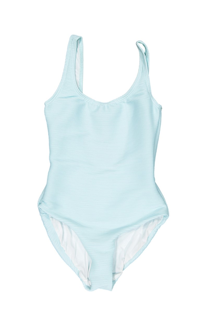 Kelly Rib Solid One Piece, Sky