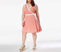 Tommy Hilfiger Plus Size  Bubble Dot Printed Dress, Coral/Ivory