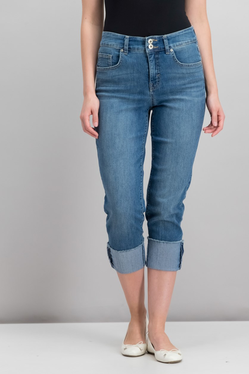 Women Capri Jeans, Firestone Blue