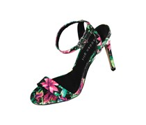 Madden Girl Women's Lala Floral Sandals, Black Combo