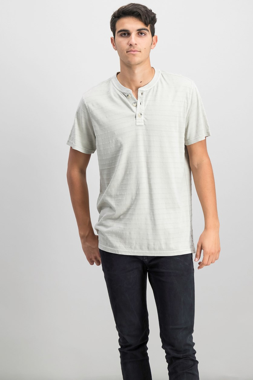 Men's Jack Mountain Textured Henley T-Shirt, Vapor Blue