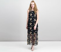 Vince Camuto Embroidered Mesh Maxi Dress, Rich Black