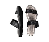 Sarah Jayne Ruth Glitter Sandals, Black/Gray