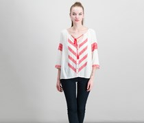 Lucky Brand Embroidered Peasant Blouse, Eggshell