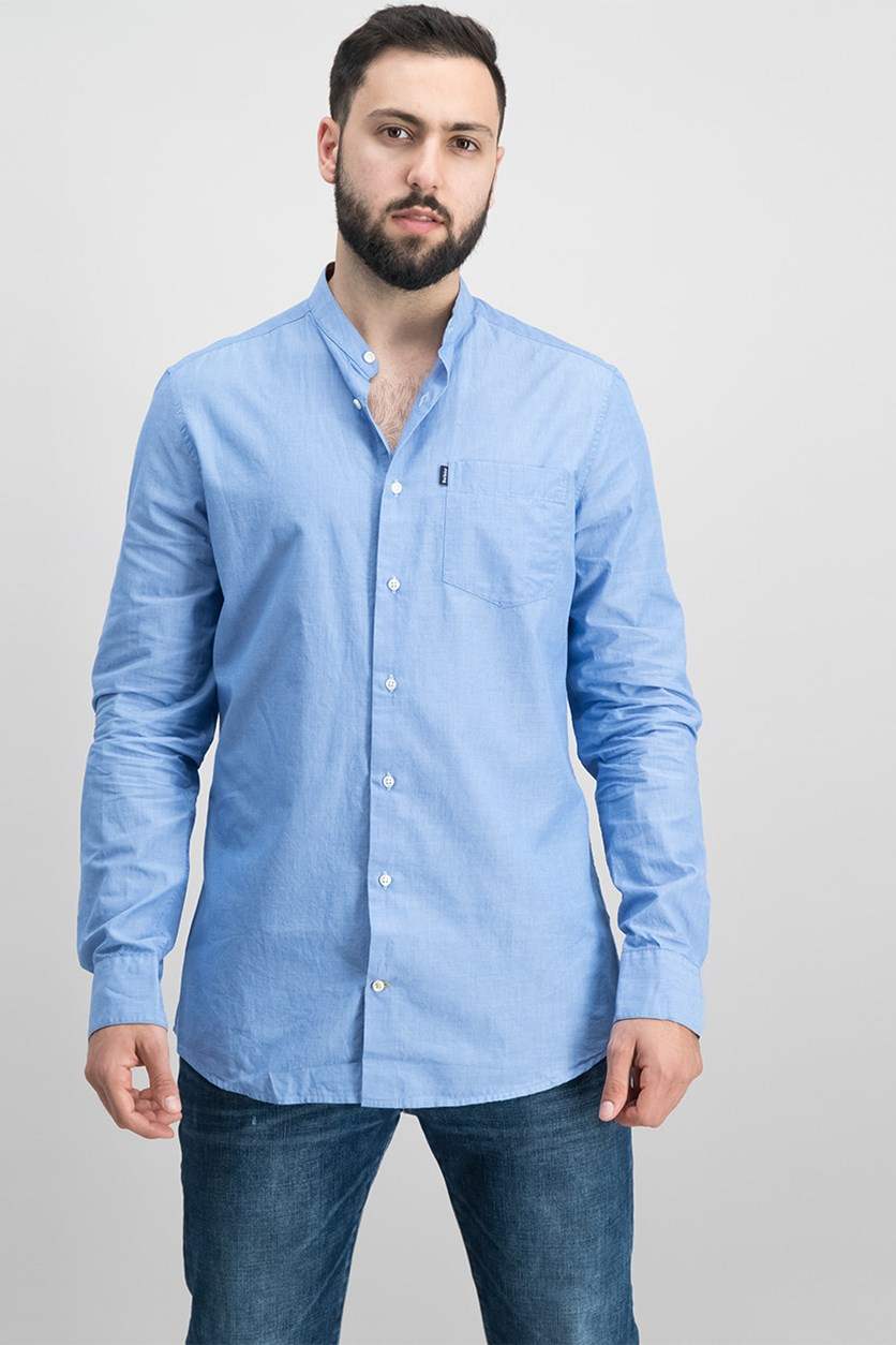 Men's Long Sleeve Fairfield Shirt, Blue