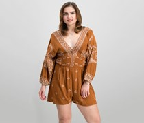Free People Azalia Romper, Chocolate