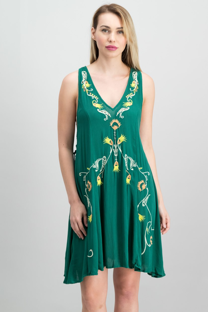 Adelaide Festival Slip Dress, Green