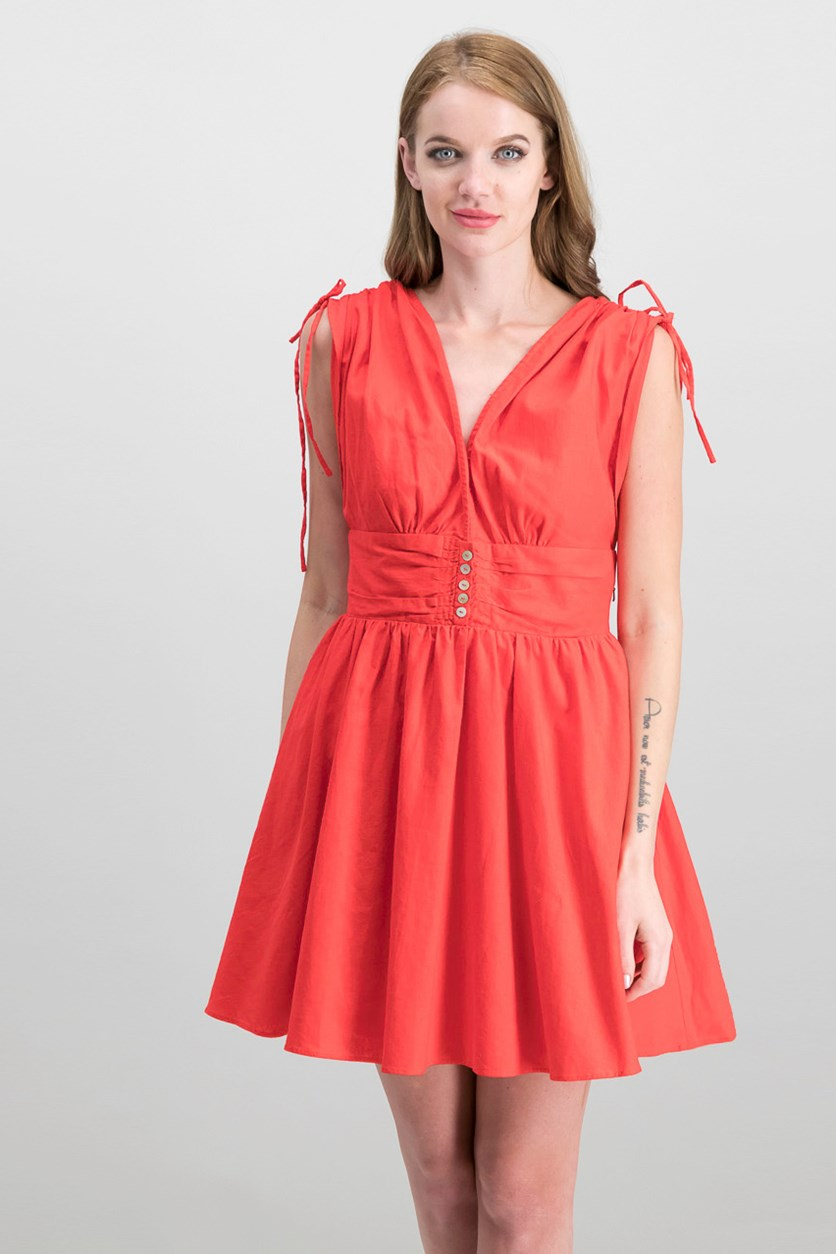 Mini A-Line Dress, Red
