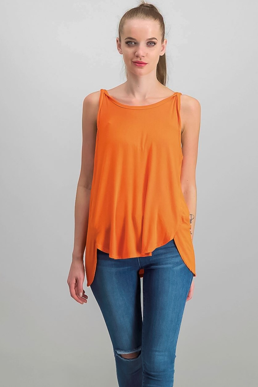 Atlantic Low-Back Tank Top, Med Orange