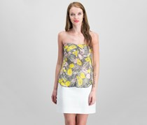 Free People Poolhouse Strapless Printed Top, Combo