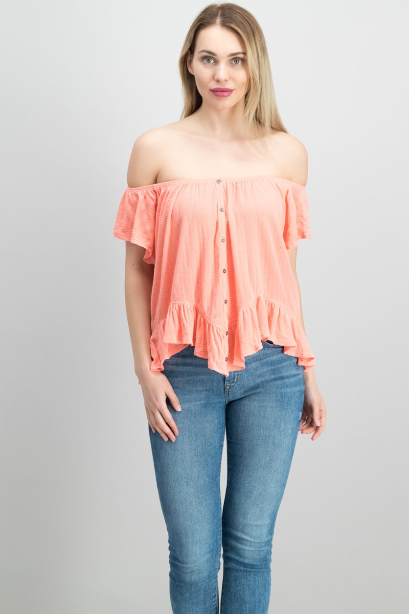 Mint Julep Tee, Coral