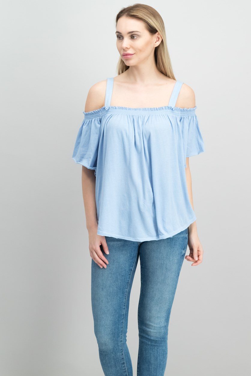 Darling Off-The-Shoulder Top, Sky