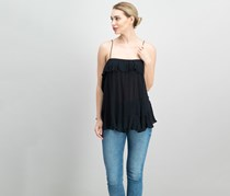 Free People Cascades Ruffled, Camisole Black