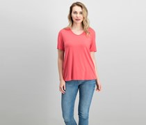 Eileen Fisher Soft V-Neck T-Shirt, Mimosa