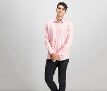 Ryan Seacrest Distinction Men's Heathered Sport Shirt, Pink Heather