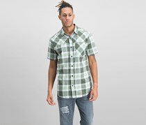 Columbia Men's Thompson Hill Yarn Dye Short Sleeve Shirt, Olive/Green