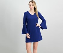 Tahari ASL Bell-Sleeve Trapeze Dress, Violet