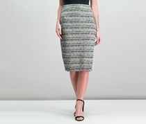 Bar III Jacquard Pencil Skirt, Dusty Olive Combo