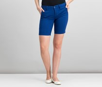 Celebrity Pink Juniors' Low-Rise Bermuda Shorts, Blue