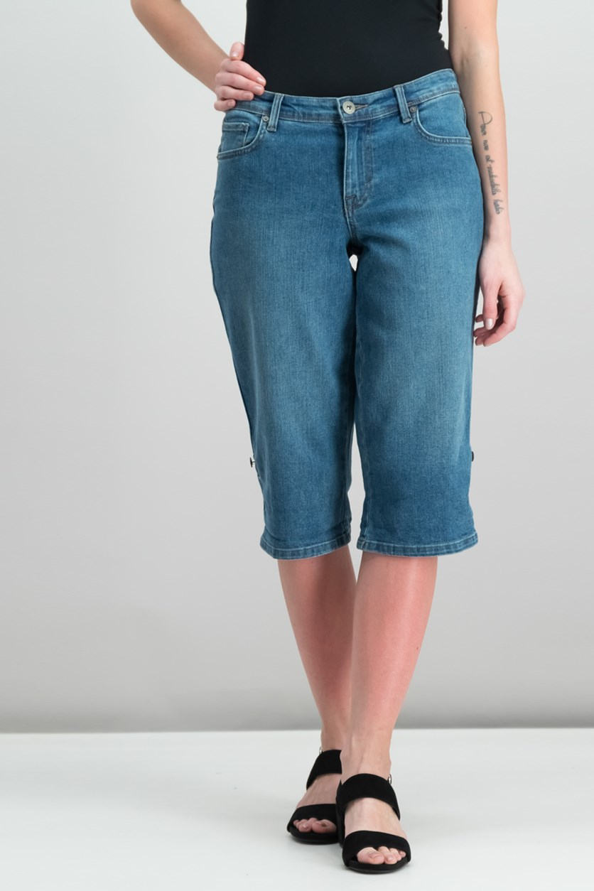 Style Co Cuffed Skimmer Jeans, Blue Camino