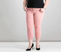 Style Co Plus Size Cuffed Capri Jeans, Brushed Rose