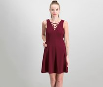 Kensie Women's Sleeveless Dress, Burgundy