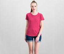 Lucky Brand Women's Rip Lace-Up T-Shirt, Earth Red